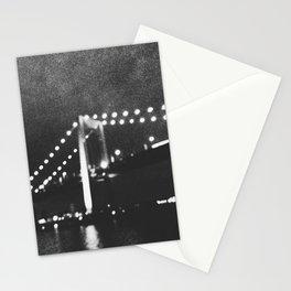 Manhattan Bridge At Night Stationery Cards