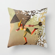 Flying and Hitting Stuff is Awesome Throw Pillow