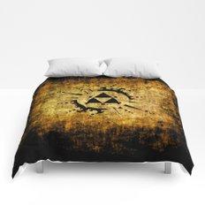 Legend Of Zelda Triforce Grunge Comforters