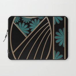 ART DECO FLOWERS (abstract) Laptop Sleeve