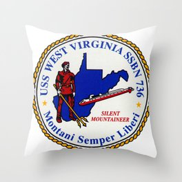 USS WEST VIRGINIA (SSBN-736) PATCH Throw Pillow
