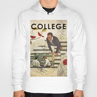 college Hoodies featuring Welcome to... College by Heather Landis