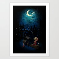 camping Art Prints featuring Camping 2 by Freeminds