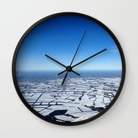 planes Wall Clocks featuring Planes by Max Jones
