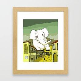 The White Elephant Framed Art Print