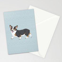 Tri-color Corgi Stationery Cards