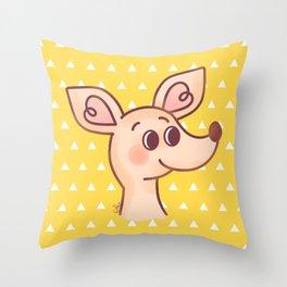 Sniff Throw Pillow