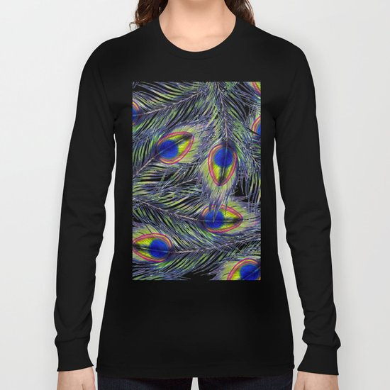 Peacock Pattern Long Sleeve T-shirt