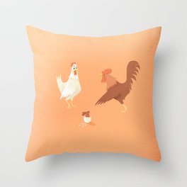 Easter trouble Throw Pillow
