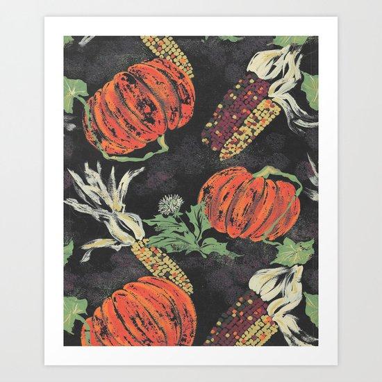 pumpkin patch nite Art Print