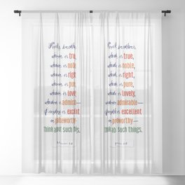 Think About Such Things . . . Sheer Curtain