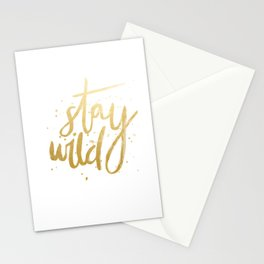 STAY WILD GOLD Stationery Cards