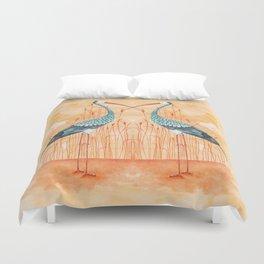 An Exotic Stork Duvet Cover