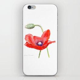 Red Poppy by Teresa Thompson iPhone Skin