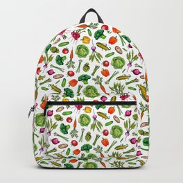 Vegetable Garden - Summer Pattern With Colorful Veggies Backpack
