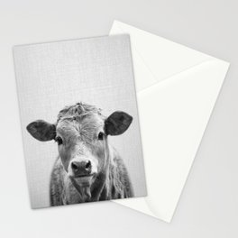 Cow 2 - Black & White Stationery Cards