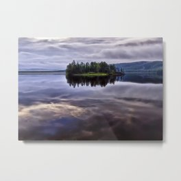 Lake of Two Rivers Metal Print