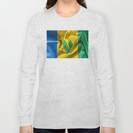 Saint Vincent and the Grenadines Flag Long Sleeve T-shirt