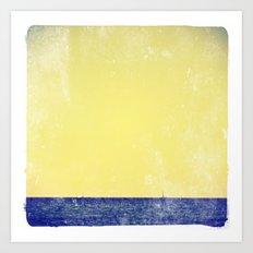 summer sail (yellow) Art Print