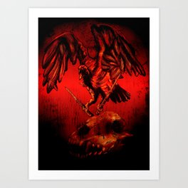 SWITCHBLADE VULTURE Art Print