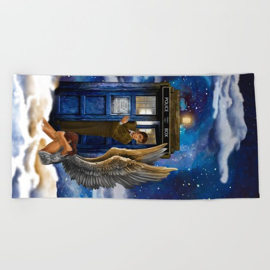 10th Doctor Who with Crying AngeL iPhone 4 4s 5 5s 5c, ipod, ipad, pillow case and tshirt Beach Towel