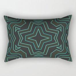 Teal tile Rectangular Pillow