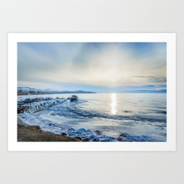 Frozen wharf and Halo Art Print