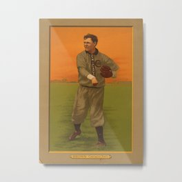 Vintage Backyard Baseball Player - Brown Chicago N'tal Metal Print