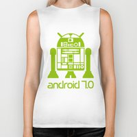 android Biker Tanks featuring Android 7 by andyk77