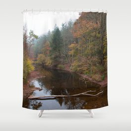 Clear Fork Shower Curtain