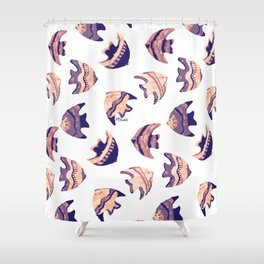 little purple fish pattern Shower Curtain