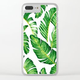 Banana Leaves pattern in watercolor Clear iPhone Case
