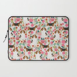 Beagle dog florals dog breed pattern must have cute gifts for pure bred dogs Laptop Sleeve
