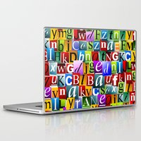 letters Laptop & iPad Skins featuring Letters by Ronda Bröc