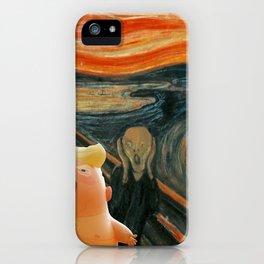 Trump Baby & The Scream iPhone Case