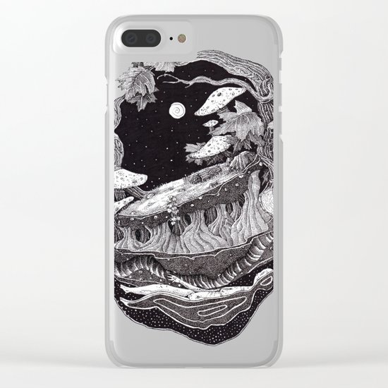 dark spirit of the nature collab franciscomff Clear iPhone Case