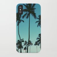 palm trees iPhone & iPod Cases featuring Palm Trees by Whitney Retter