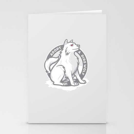 Adopt A Dire Wolf Stationery Cards