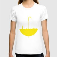 himym T-shirts featuring Yellow umbrella by Beitebe
