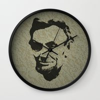 lincoln Wall Clocks featuring Lincoln by Charles Emlen