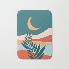 Moonlit Mediterranean / Maximal Mountain Landscape Bath Mat