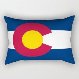 Colorado state flag (High Def file) Rectangular Pillow