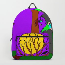 Halloween Low Flying Witch Backpack