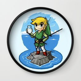 Legend of Zelda Wind Waker Bottle of Milk T-Shirt Wall Clock