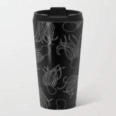 Squids (Grey on Black) Metal Travel Mug