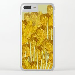 Autunm flowers Clear iPhone Case