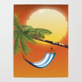 Hammock & Setting sun Poster