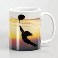 anaconda Mugs featuring Hold Tight by Skye Zambrana