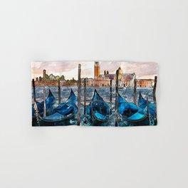Gondolas in Venice Hand & Bath Towel