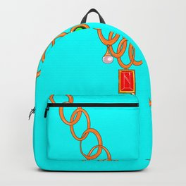 Jewels, gems of ruby, pearl and emerald Backpack